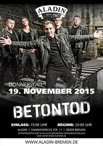 2015-11-19 – Betontod – Aladin Bremen