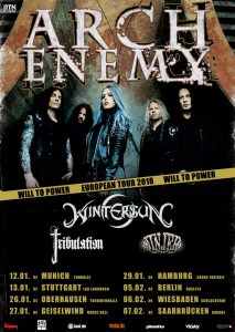 Arch Enemy - Will to Power Tourplakat
