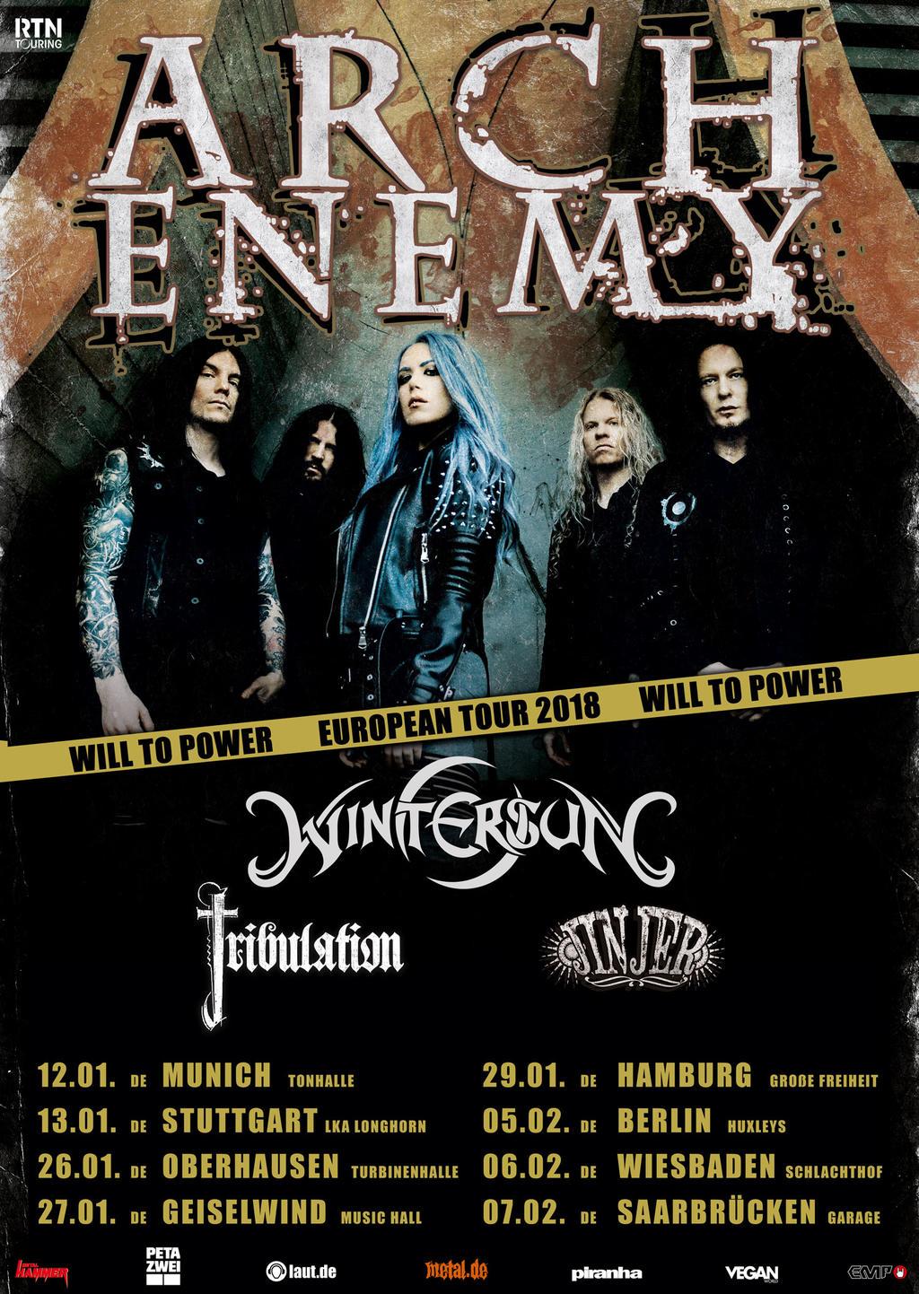 Arch Enemy - Will to Power Tourplakat